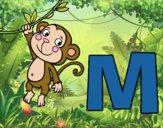 Dibujo M de Mono pintado por ana_0911