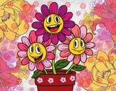 Dibujo Maceta de flores pintado por milita4458