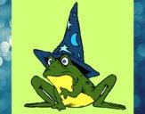 Mago convertido en rana