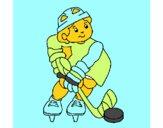Dibujo Niño jugando a hockey pintado por tabathamc