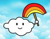 Dibujo Nube con arcoiris pintado por kevin312
