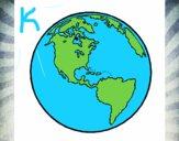 Dibujo Planeta Tierra 1 pintado por kelsey