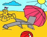 Dibujo Playa pintado por Potte
