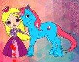 Dibujo Princesa y unicornio pintado por damasia