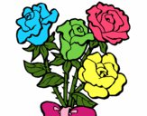 Dibujo Ramo de rosas pintado por murano