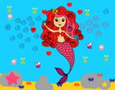 Sirena con rizos