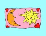 Dibujo Sol y luna 2 pintado por LunaLunita