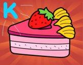 Dibujo Tarta de fresas pintado por kelsey