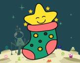 Dibujo Calcetín con estrella pintado por ninoanais