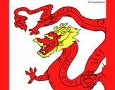 Dibujo Dragón chino pintado por kevin312