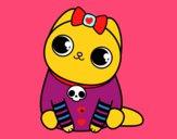 Dibujo Gatito emo pintado por rositas226