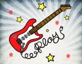 Dibujo Guitarra y estrellas pintado por XIOMY OSOR