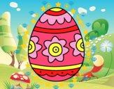 Dibujo Huevo de Pascua con flores pintado por sirenita25