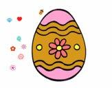 Dibujo Huevo de Pascua margarita pintado por nourso