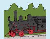 Dibujo Locomotora pintado por kjdfshiudf