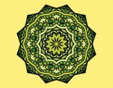 Dibujo Mandala con estratos pintado por merchindan