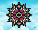 Mandala estrella floral