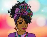 Dibujo Mujer africana pintado por queyla