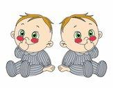 Dibujo Niños gemelos pintado por Potte