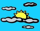 Dibujo Nublado pintado por Potte