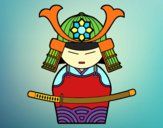 Dibujo Samurái chino pintado por queyla