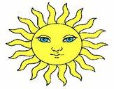 Dibujo Sol pintado por Potte