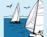 Dibujo Velas en alta mar pintado por kjdfshiudf