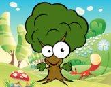 Árbol con cara