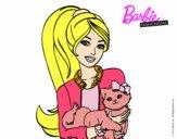 Barbie con su linda gatita