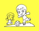 Dibujo Fútbol en el recreo pintado por daniel7777