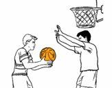 Jugador defendiendo