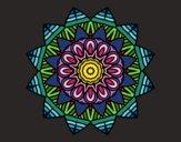 Dibujo Mandala frutal pintado por FDANI