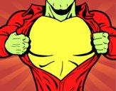 Pecho de superhéroe