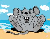 Dibujo Ratón riendo pintado por queyla