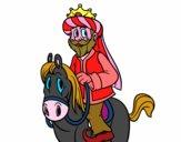Rey Gaspar a caballo