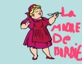 Dibujo Señora cocinera pintado por sarayyy222