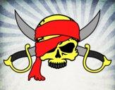 Dibujo Símbolo pirata pintado por albertoxxx