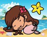 Dibujo Sirenita chibi durmiendo pintado por sally45