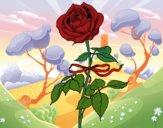 Dibujo Una rosa pintado por queyla