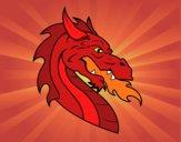 Dibujo Cabeza de dragón europeo pintado por DanRowena1