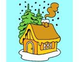 Dibujo Casa en la nieve pintado por Evelia123