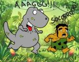Dibujo Dinosaurio cazador pintado por queyla