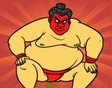 Dibujo Luchador de sumo furioso pintado por EmilioMena
