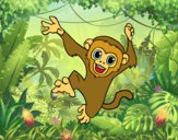 Dibujo Mono capuchino bebé pintado por JuanMar3