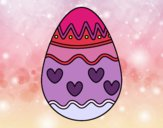 Dibujo Huevo con corazones pintado por zoemarcato