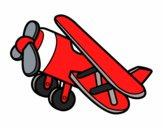 Dibujo Avión acrobático pintado por NievesMC