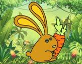 Conejo con zanahoria