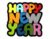Dibujo Feliz año nuevo pintado por stocn