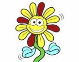 Dibujo Flor animada pintado por dragoncito