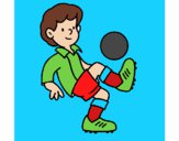 Dibujo Fútbol pintado por deyi04